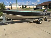 16 ft Lund Aluminum Fishing Boat