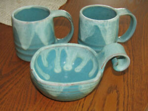 (3) Pieces of Pinecraft Pottery - Aylmer, Ontario