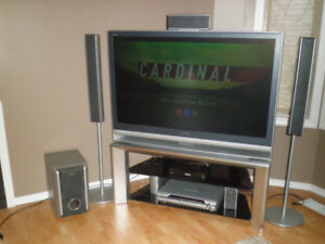 Sony TV with surround sound and DVD
