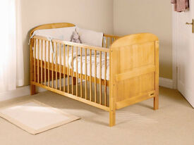 Cot Bed With Mattress & Protector VGC. £60