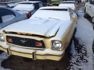 1978 Ford Mustang II rolling chassis