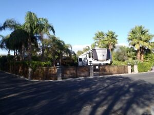 RV LOT AND 5TH WHEEL IN TWO SPRINGS RV RESORT PALM SPRINGS CALIF
