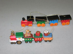 Christmas Choo Choo Train hanging ornaments