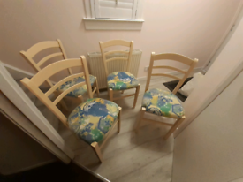 4 high back dining room chairs