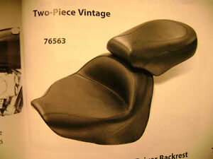 MUSTANG 76563 WIDE VINTAGE TWO PIECE SEAT VSTAR1300 07-12