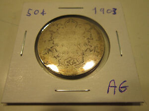 Old Canadian 50 cent silver coins London Ontario image 1