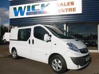 2014 Vauxhall VIVARO 2900 CDTI SPORTIVE DCB SWB COMBI Van Manual Crew Van