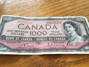 Billet de 1000$ de 1954