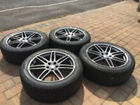 "Audi Q5 Genuine OEM 20"" Twin Spoke Alloy Wheels And Tyres 8.5x20 5x112 ET33"