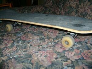 OLD WOODEN SKATEBOARD
