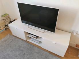 White high gloss TV cabinet