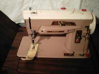 Antique Singer Sewing Machine; Cabinet/Drawers & Storage Chair