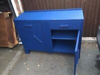 BLUE PAINTED SHABBY CHIC VINTAGE SIDEBOARD PROJECT ** FREE DELIVERY AVAILABLE **