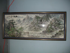 For sale - very large framed oriental picture (2).