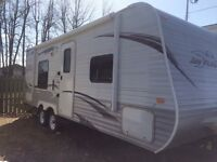 I am looking to trade my travel trailer for a camper.