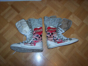 ED HARDY Runner Boots - size 7 - used