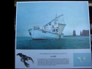 Laminated Photograph of German Coastal Research Vessel