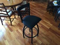 4 metal swivel bar stools