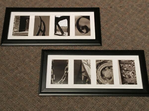 Framed Photo Letters Impressionism
