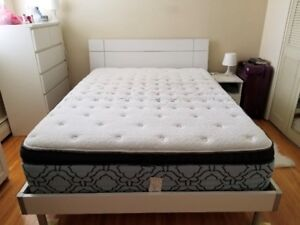 Queen bed, frame and mattress for sale