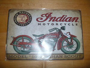 METAL SIGN INDIAN SCOUT 101