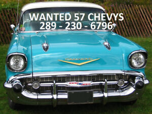 1957 CHEVROLET PROJECT OR COMPLETE CARS FOR PARTS OR RESTO CA$H