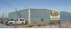 Excellent location 6000 Sq Ft shop on 1.7 Acre Concrete Yard