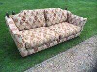 Duresta Hand Made, Drop Arm, Tied Corner 3/4 Seater Sofa