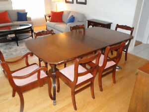 Duncan Phyfe Antique Dining Table Chairs