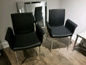 Set of 2 Modern Black Chairs -Office /Dinning