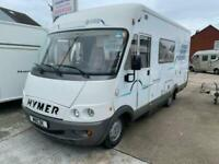 Hymer B544 Above Cab Double Rear Kitchen Motorhome