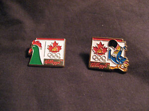 (2) 1988 Kellogg Olympic Pin / Badge COLLECTIBLES - very rare Belleville Belleville Area image 1
