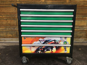 7  Drawer Brand New Rolling Toolbox Complete With Metric Tools