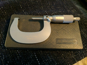 Brand New Mitutoyo Forged Metric Micrometer *.001 Satin