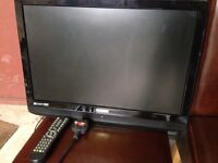 Technika colour tv with dvd player