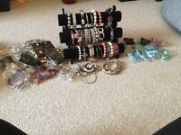 Job lot of costume jewelley