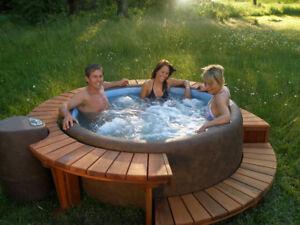 Softub Hot Tub, Anytime, Anywhere, Any Season