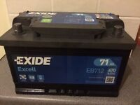 CAR BATTERY EXIDE EXCELL __ 71Ah __ GREAT CONDITION __ £35
