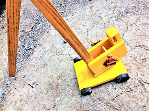 Tall Solid Wood Handmade Movable Crane Toy