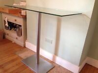 Dwell Sicily glass chrome breakfast table