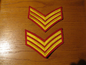 RCMP SERGEANT RED AND GOLD CHEVRONS