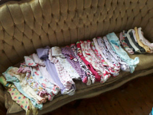 Large lot of girls pjs 0-3 month