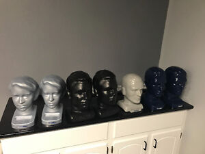 Plastic display heads - great for business or HALLOWEEN?