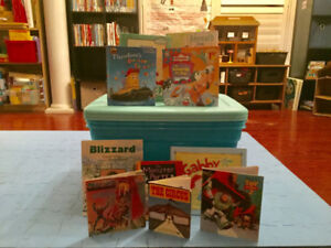 30 gently used children's books.