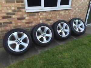 """bmw x6 19"""" wheels and brand new winter tires"""