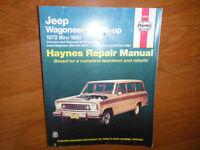 1972-1991 Jeep Wagoneer Cherokee J-Series Pick-ups Shop Manual