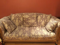 Moving Sale - Classy Frabic three seaters sofa