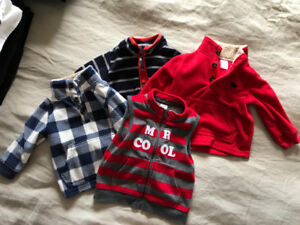 Boy's fall sweaters/jackets, size 12 months