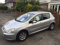 Peugeot 307 1.4s Genuine 69000 miles,Recent Timing Kit,Long Mot,Low Running costs