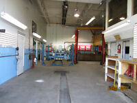 Fully equipped auto mechanic shop for lease on southside